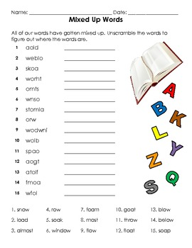 Long O Spelling Words Activity Packet
