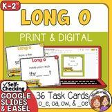 Long O Task Cards: 36 cards to practice o__e, oa, ow, __oe