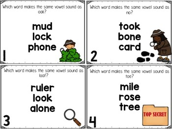 Long O Task Cards with Silent E