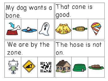 Long O & U CVCE Sentences Read & Clip Cards