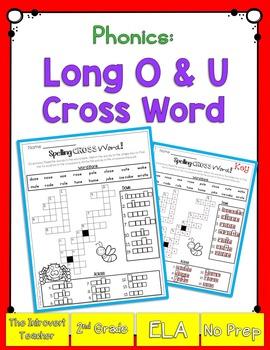 Long O & U Crossword Puzzle