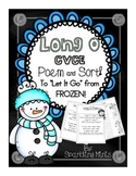 "Long ""O"" CVCe Poem/ Song to ""Let It Go"" from Frozen! (Sort included)"