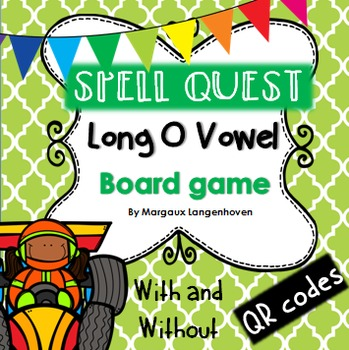Long O Vowel Board Game (with or without QR codes)