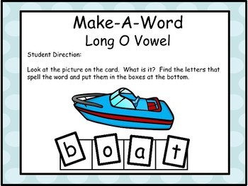 Long Vowels - O - Make-A-Word Literacy Center