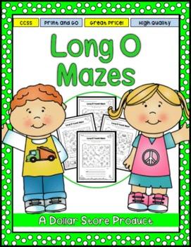 Long O Vowel Maze Practice Printables
