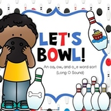 Long O Vowel, OA, OW Word Sort - Bowling
