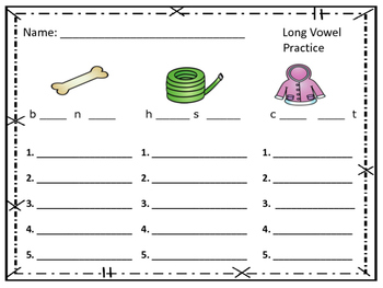 Long /O/ Vowel Practice