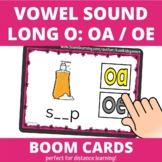 Long O Vowel Sound OA or OE Spring BOOM Cards (distance learning)