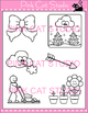Long O Vowel Sound Spelled 'ow' Phonics Clip Art  - bow, grow, snow, blow, mow