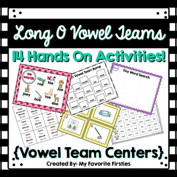 Long O Vowel Team Centers Word Work