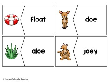 Long O Vowel Team Vocabulary Puzzles