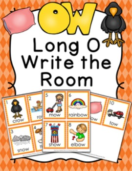 Long O Vowel Team ow Write the Room