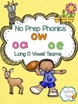 Long O Vowel Teams No Prep Phonics Pack