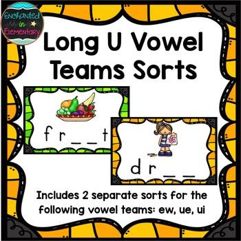Long U Vowel Teams Sort