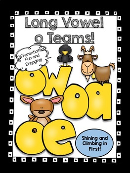 Long O Vowel Teams Word Work -oa, -oe, and -ow!