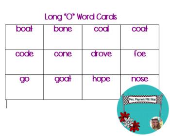 Long O Word Cards