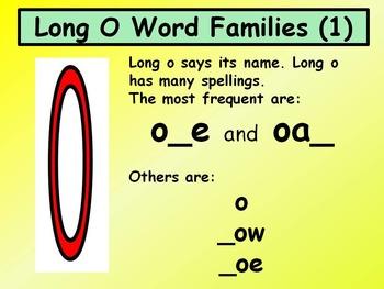Long O Word Families 1