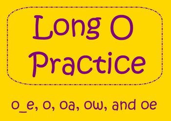 Long O Word Practice - SmartBoard Activity