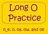 Long O Word Practice - SmartBoard Activity