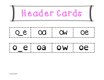 Long O Word Sort {Differentiated} + Seat work