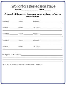 Long O  Word Sort - Intermediate