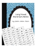 Long Vowel Word Sort - Partner Game - A, E, I, O, U