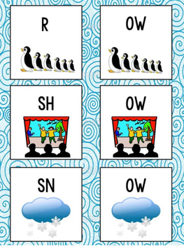 Long O Word Sort: oa, ow, o_e, o