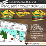 Long O Word Sort and Center Activities (OW, OA, O-E, OE)
