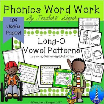 Long O Word Work Games & Activities