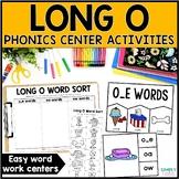 Long O Word Work Centers & Activities (o_e, oa, ow)