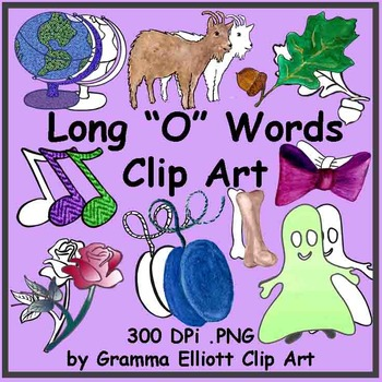 Long O Words Clip Art - 59 realistic images