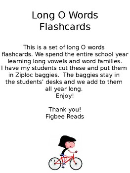 Long O Words Flashcards