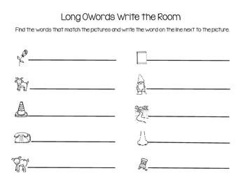 Long O Words Write the Room