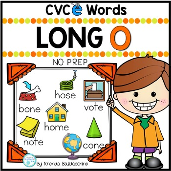 Long O Worksheets - CVCE Words Activities NO PREP Printables