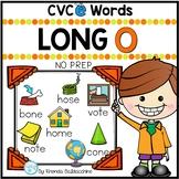 Long O Worksheets - CVCE Words Activities NO PREP