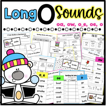 Long O Worksheets *Differentiated