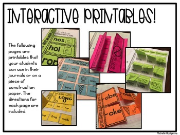 Long O {activities and printables for CVCe}