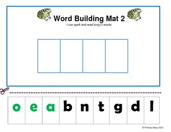 Long O and Long U Word building Mats and Picture Sorts.