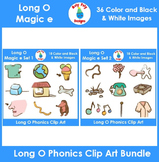 Long O (magic e) Phonics Clip Art Bundle