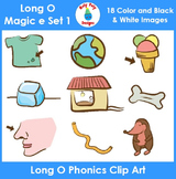 Long O (magic e) Phonics Clip Art Set 1