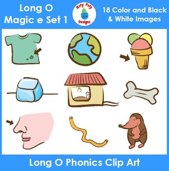 Long O (magic e) Phonics Clip Art Set 1