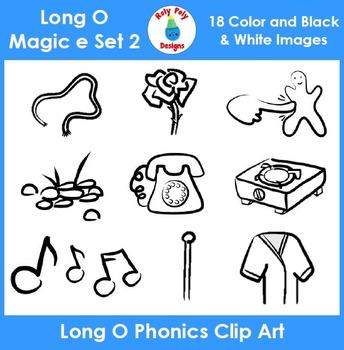 Long O (magic e) Phonics Clip Art Set 2