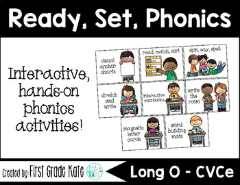 Long O (o_e) CVCe Interactive Activities (First Grade Phonics)