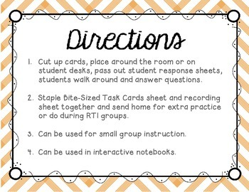 Long O (oa and ow) Tiny Task Cards