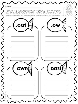 Long O oa and ow ~ Activity Pack