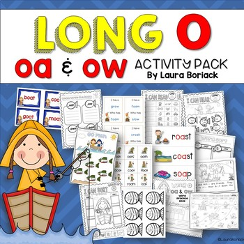 Long O oa and ow Activity Pack
