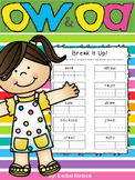 Long O (oa / ow) Phonics Worksheets (No Prep)