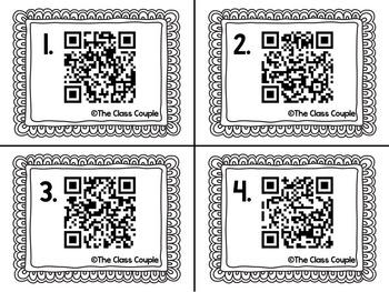 Long O oa & ow QR Code Task Cards