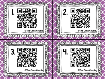 Long O oa & ow QR Code Task Cards