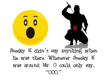 Long O (sneaky E) Interactive Read aloud/ concentration game